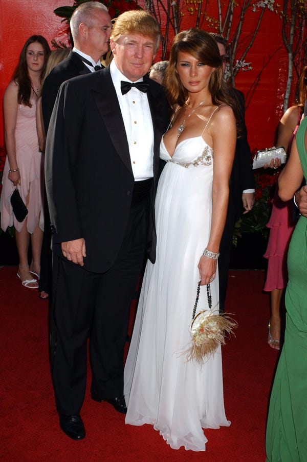 Melania Trump All White Red Carpet Fashion Style