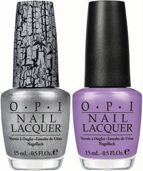 OPI\'s Pirates Of The Caribbean Nail Polish And Silver Shatter