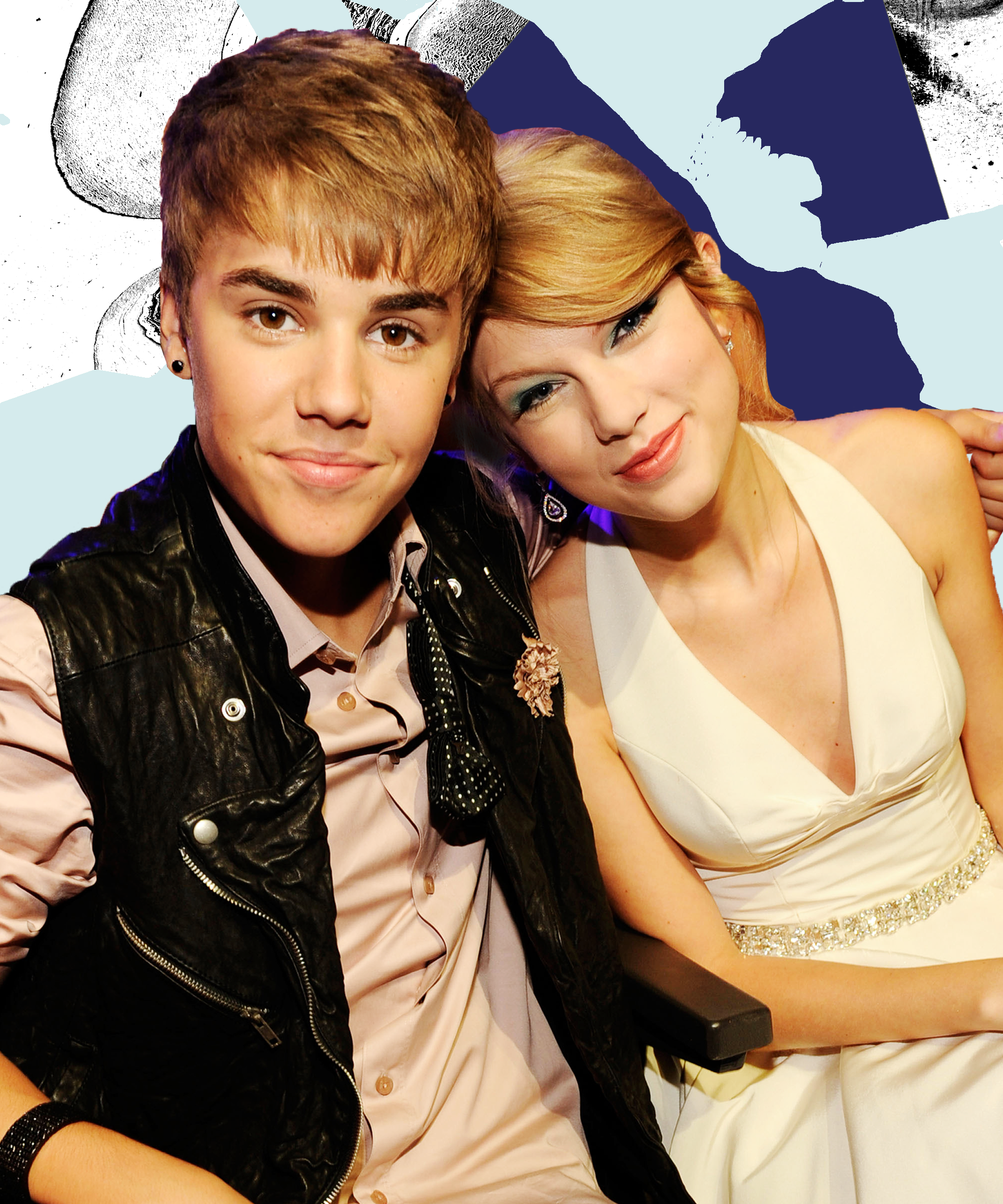 With Swift justin bieber