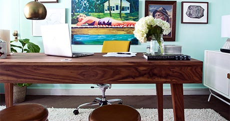 Steal 5 Budget-Friendly Office Decor Tips From Kelly Oxford