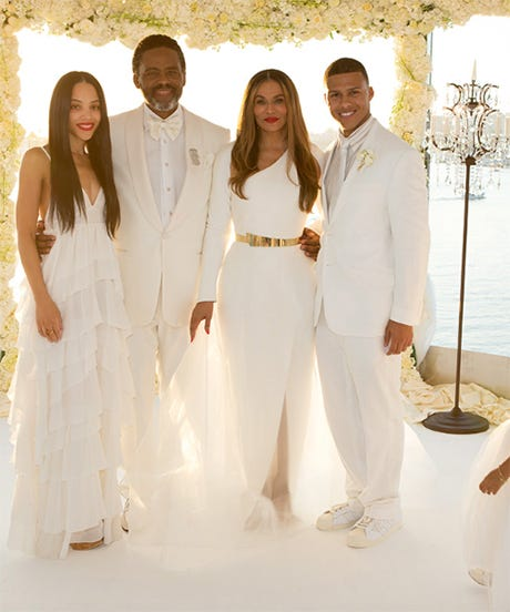 Beyonce knowles wedding dress pictures