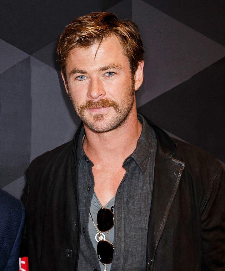 Chris Hemsworth New Hairstyle Mustache Facial Hair