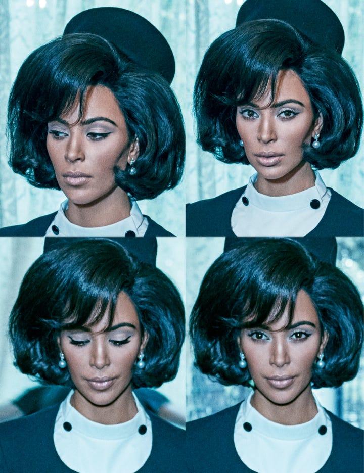Kim Kardashian North West Jackie Kennedy Style