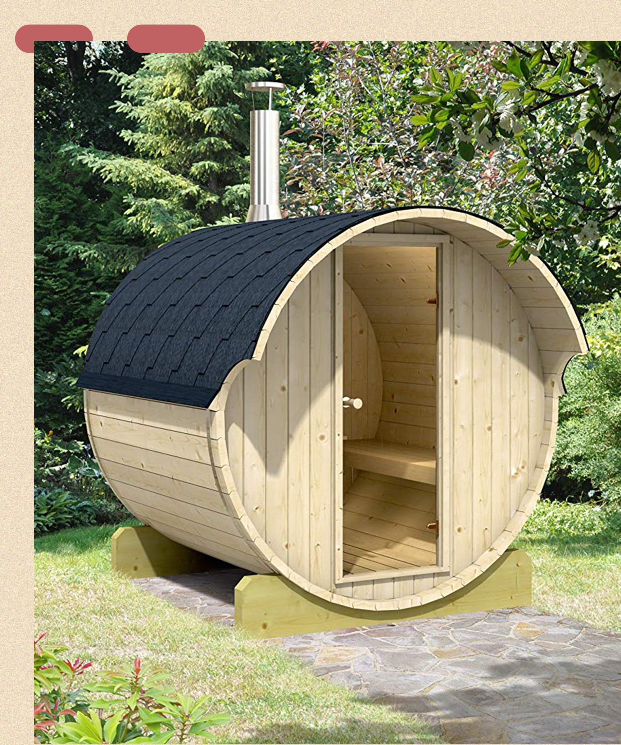 Remember The Mini Guesthouse That Sold Out On Amazon? Here's The Sauna To Match