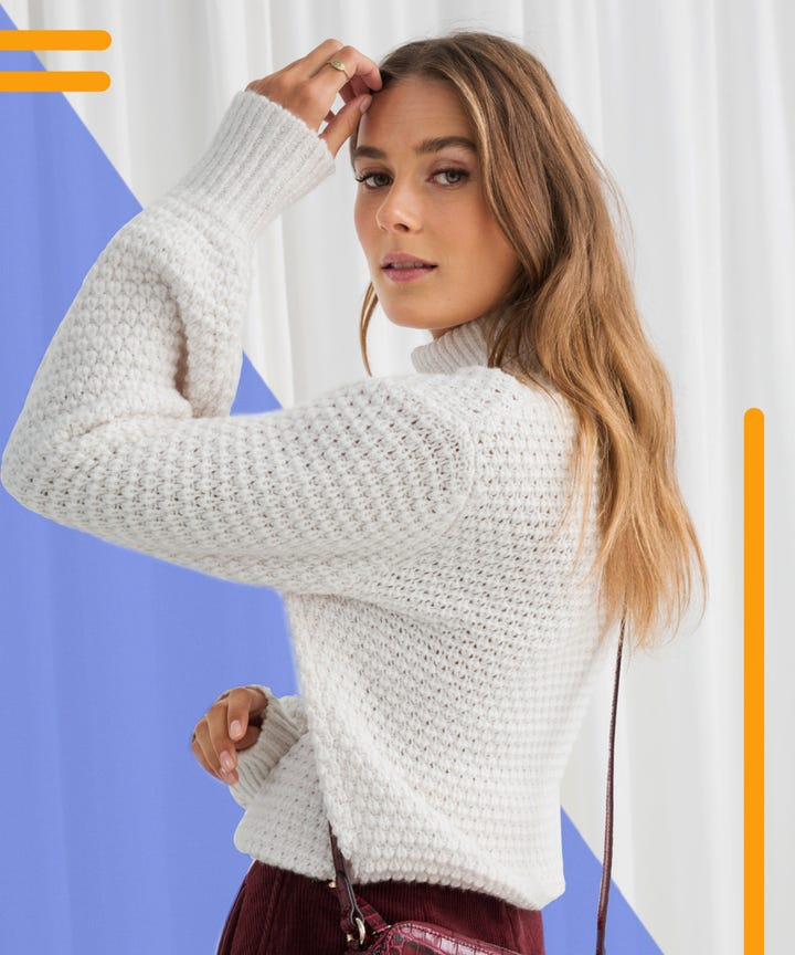 Best White Knit Sweaters To Wear To Work Fall 2018