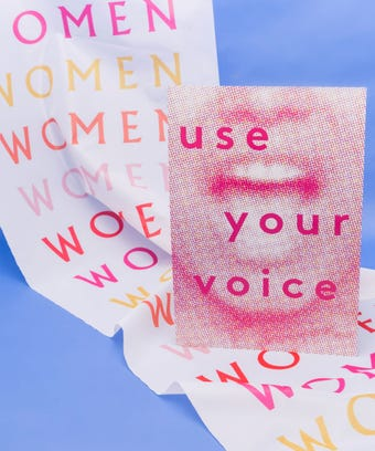 Plakate (use your voice, women)