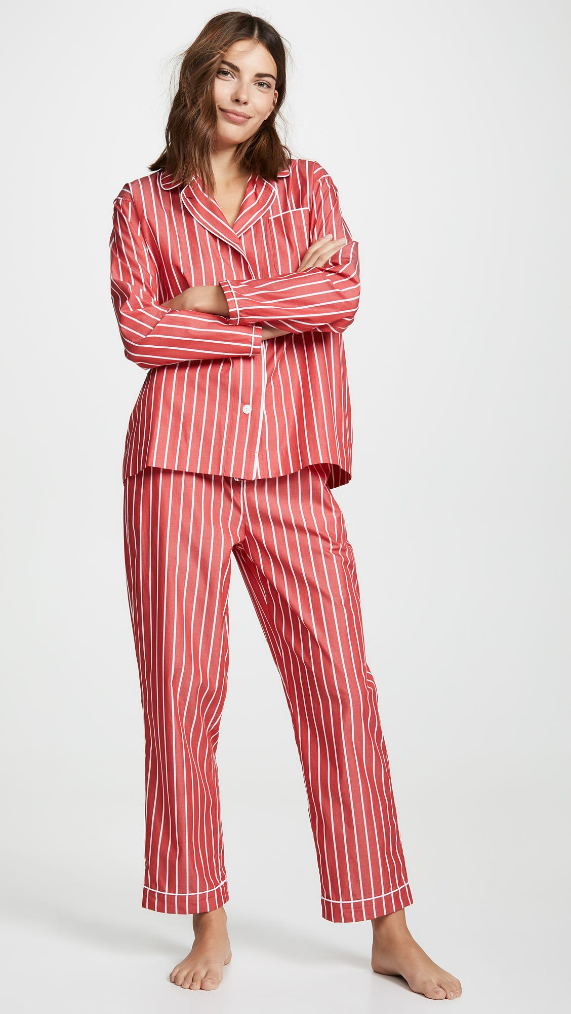9134704c64d73 Sleepy Jones. Bishop Striped Pajama Set