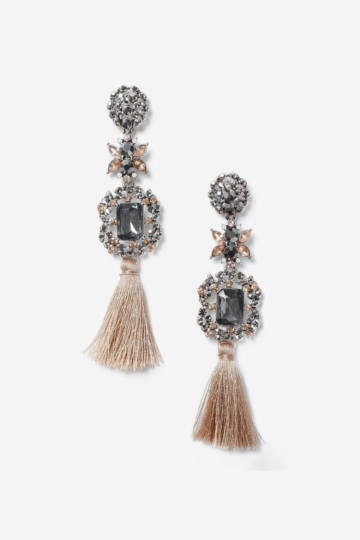 1bce5e2c92c83f Tassel Earrings New Season Statement Party Jewellery
