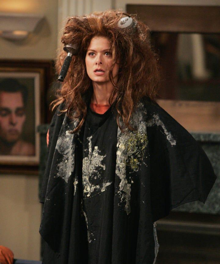 Debra Messing Will And Grace The Rachel Hair Fail
