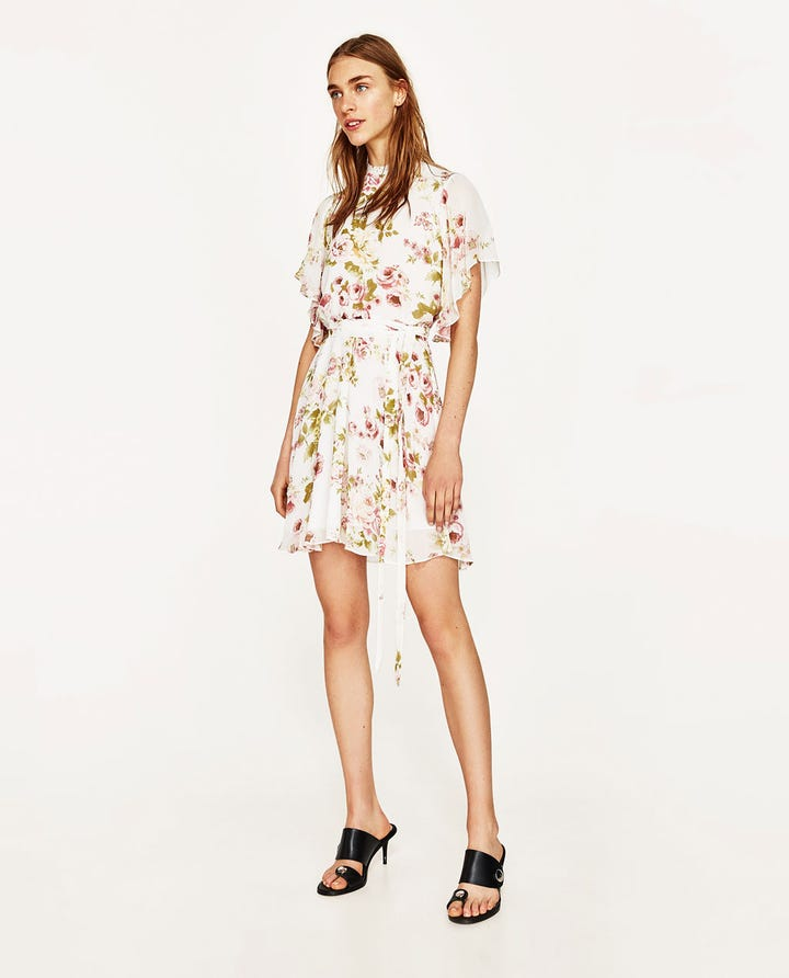 Zara floral print spring clothing zara printed mini dress with belt available at zara mightylinksfo