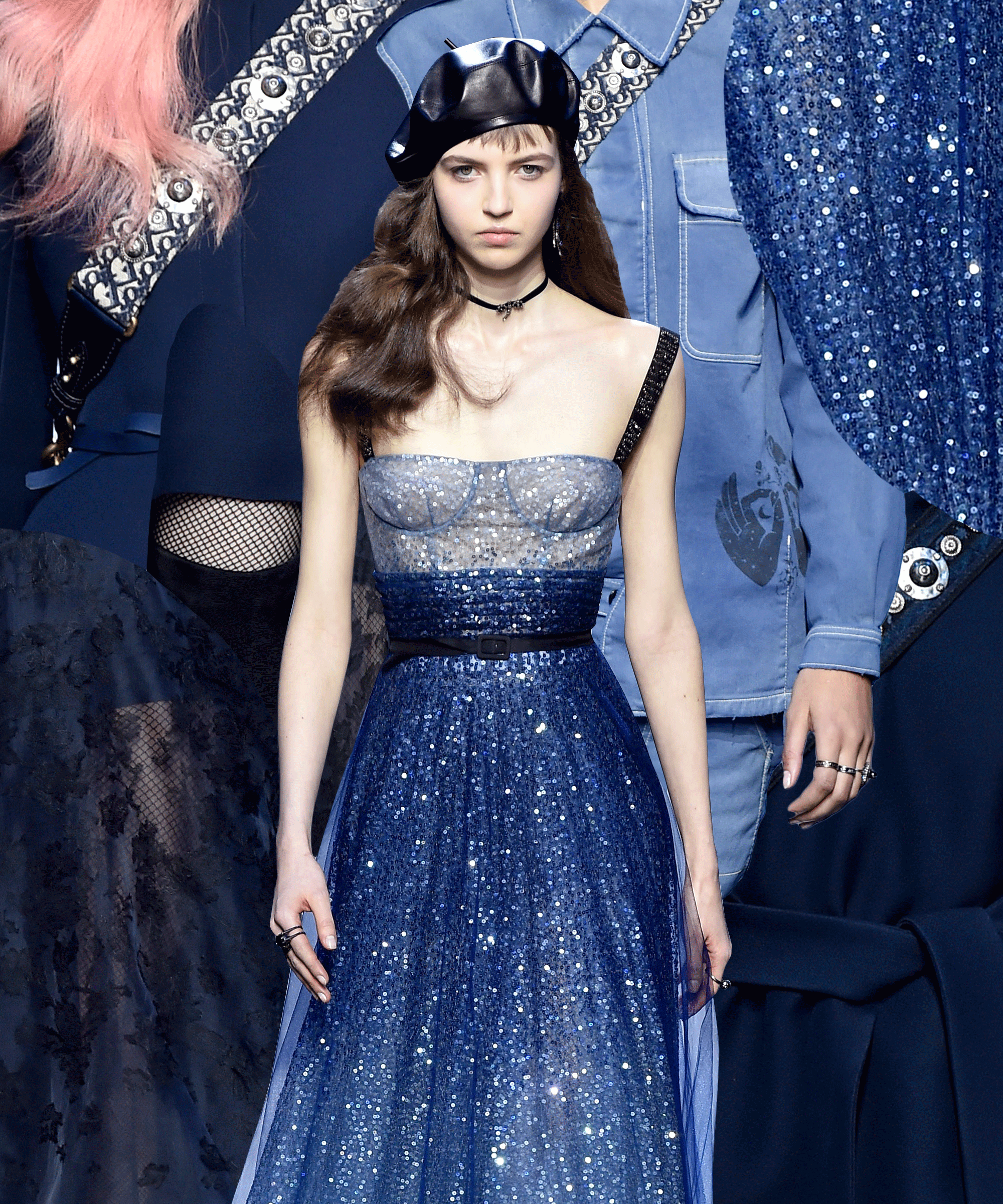 Maria Grazia Chiuri Experiments With Navy Blue for Her Dior FallWinter 2019-18 RTW Line