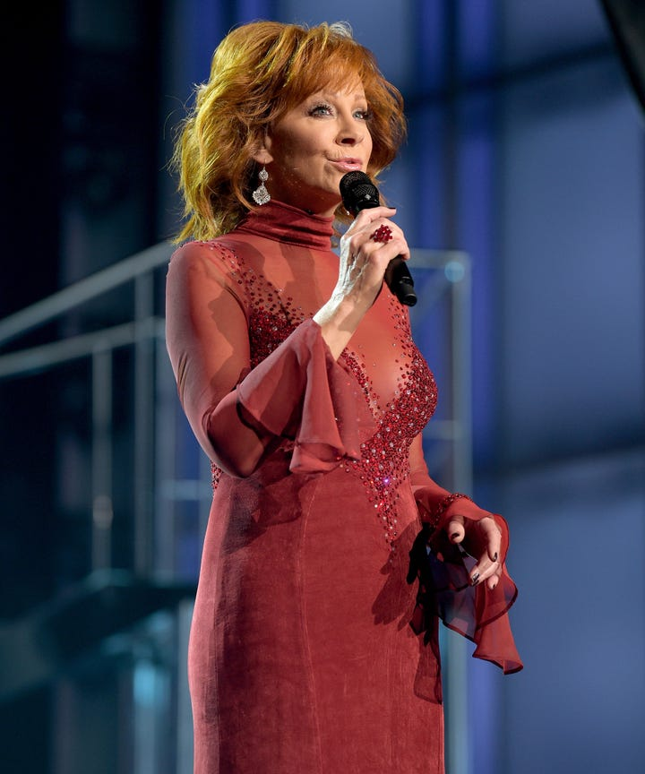 reba mcentire joked about sexism in country at acm