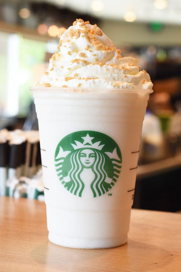 Photo Courtesy Of Starbucks Lemon Bar Frappuccino