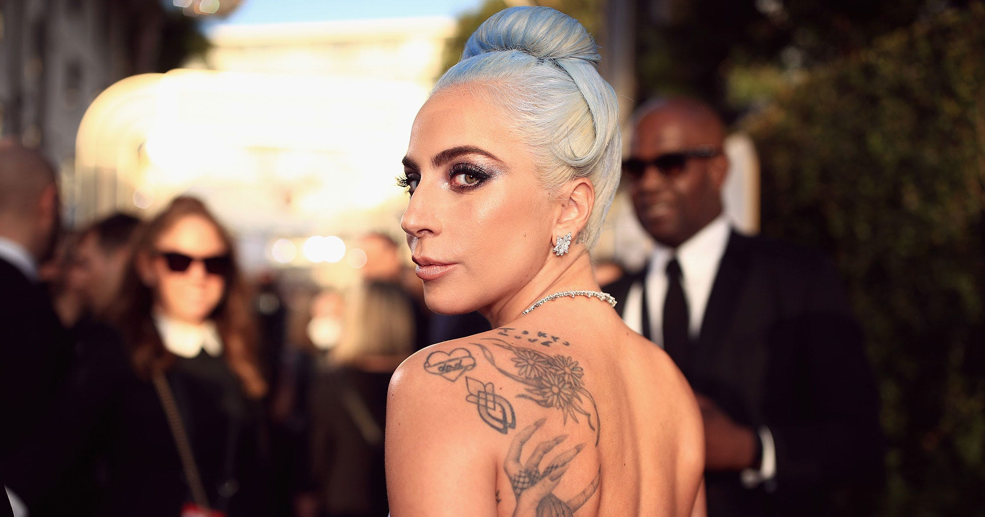 5b64979cd A Comprehensive Guide To Lady Gaga's Tattoos & Meanings