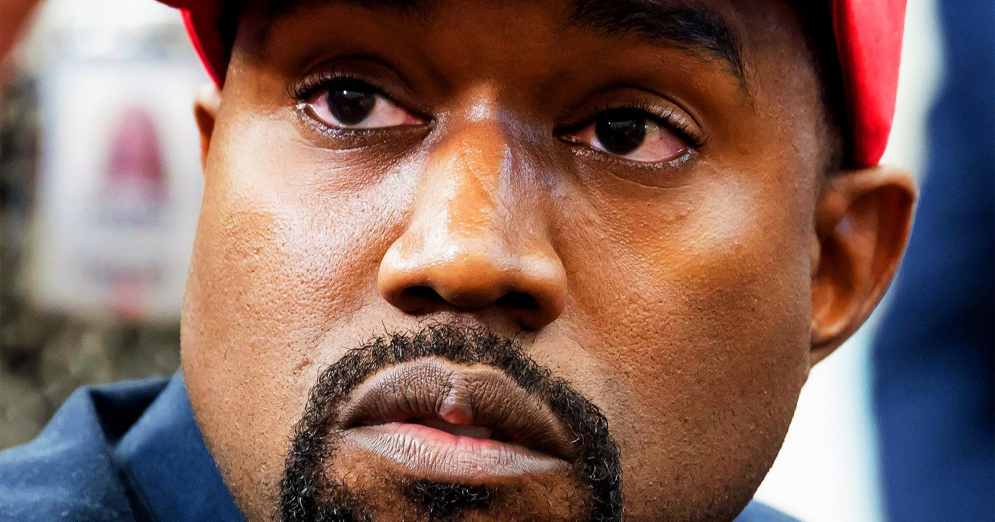 Did You Catch Kanye West's Kardashian Jab At The White House Today?