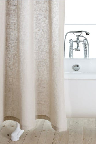 Zara Lino Shower Curtain 8990 Available At Home