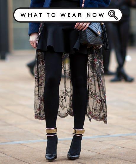 Sheer Dress with Leggings