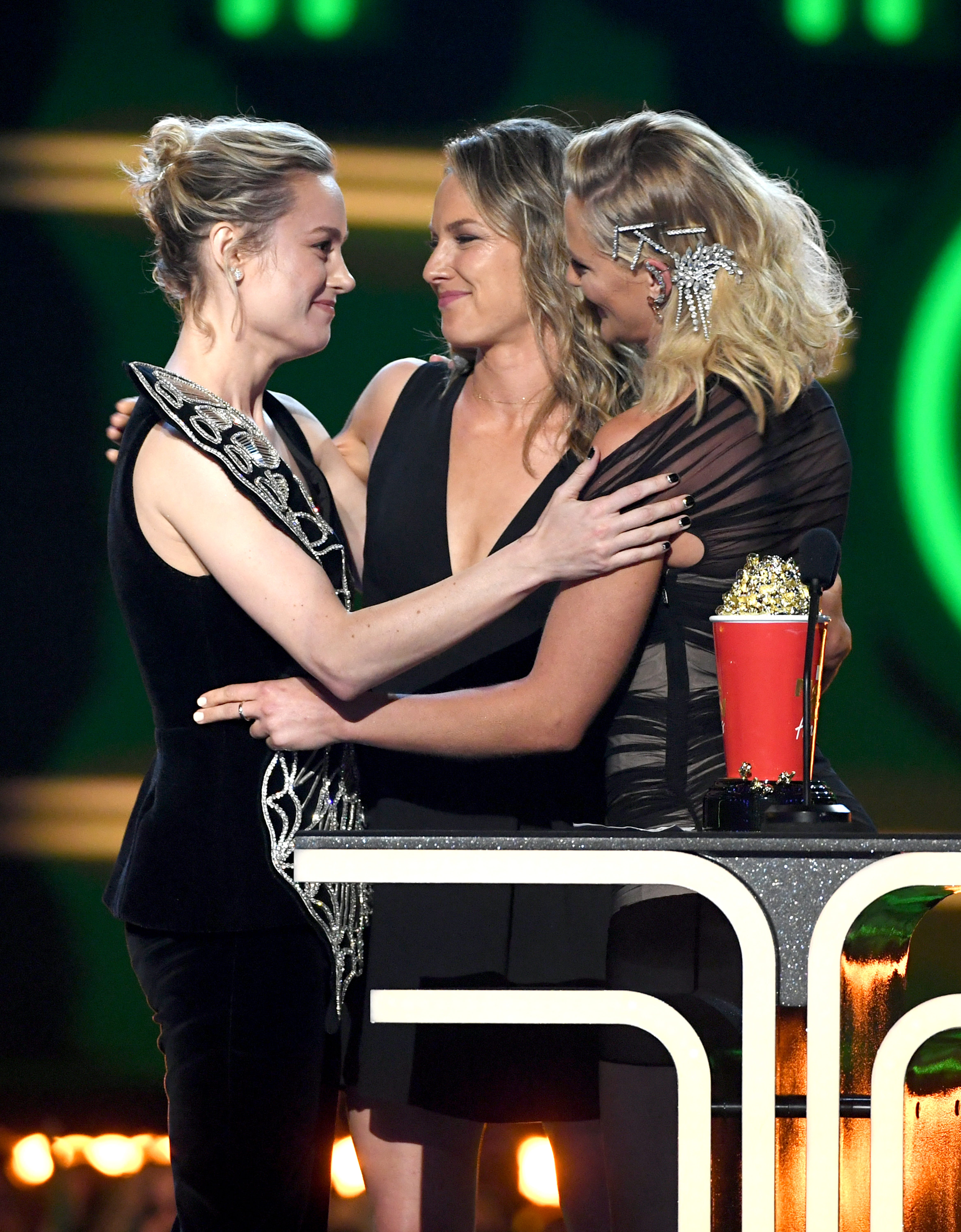 Brie Larson Won The MTV Awards When She Handed The Stage To Her Captain Marvel Stunt Doubles