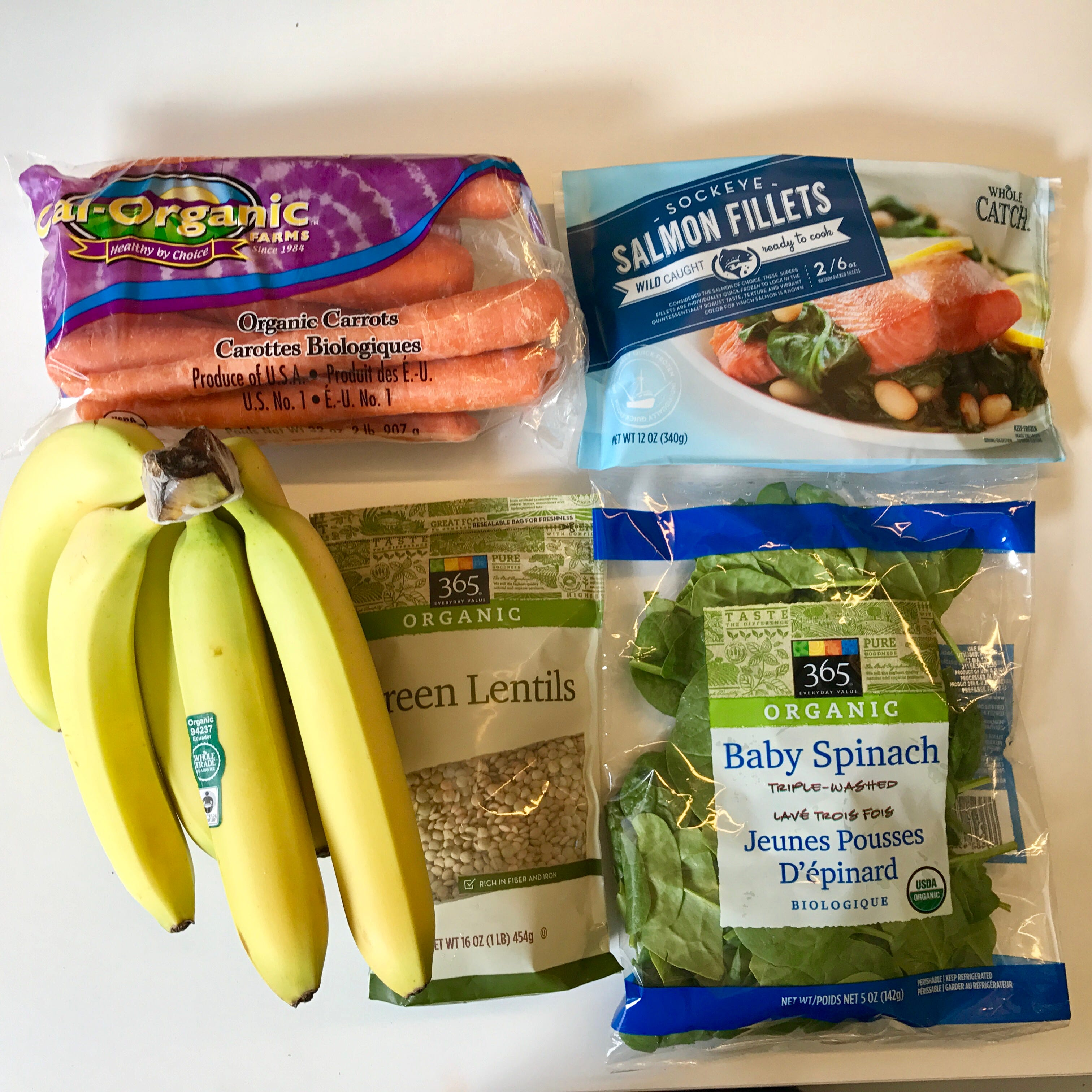 Monthly budget grocery haul