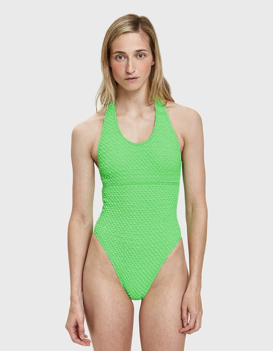 39a4669e62 Ana Uno Puckered Swimsuit