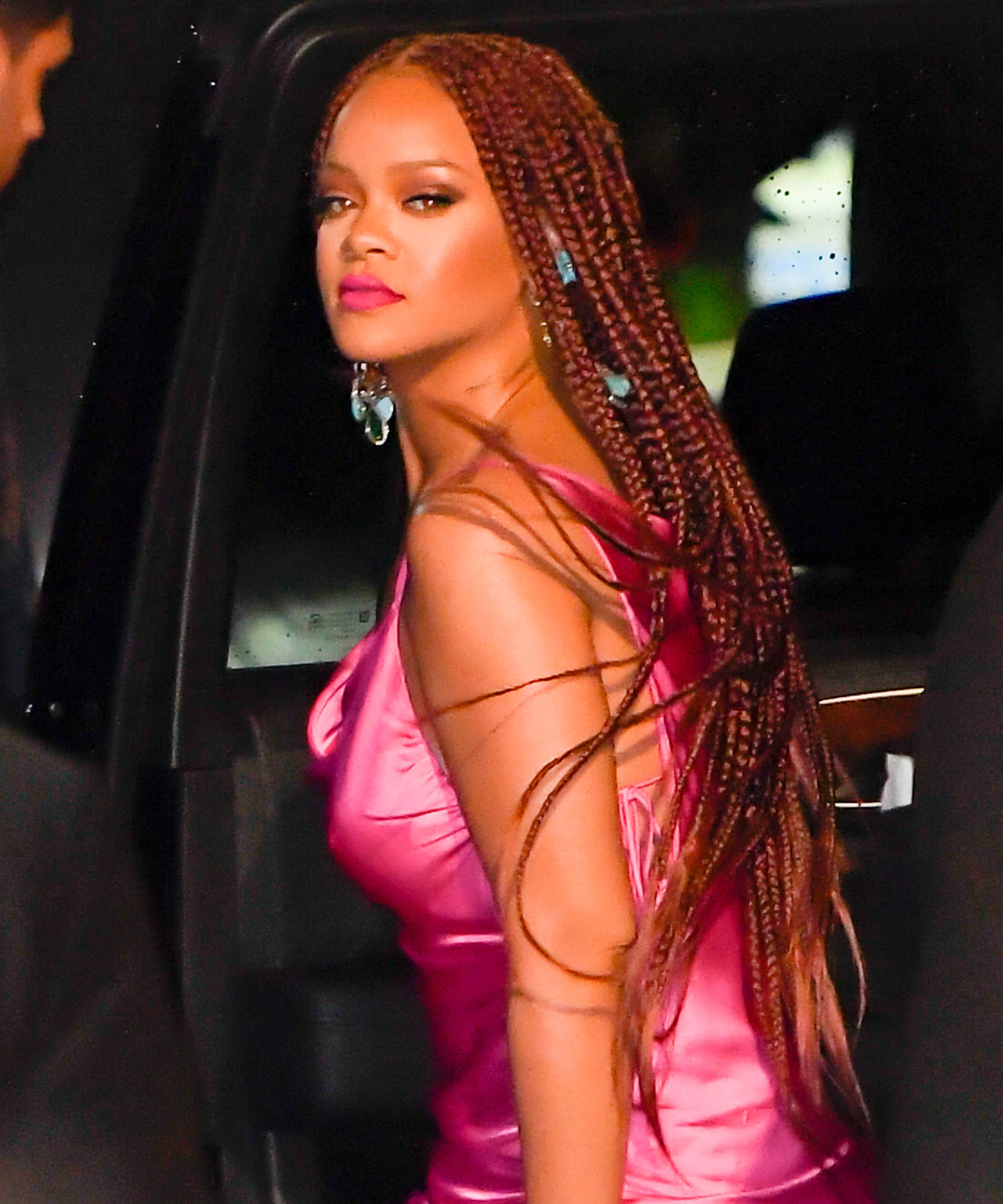 Rihanna Red Box Braids Are Perfect For Summer