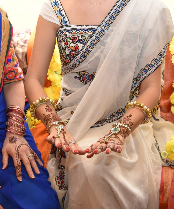 about two years ago kimberly hu and her boyfriend went to their first indian wedding it was a huge production there were so many cultural rituals on