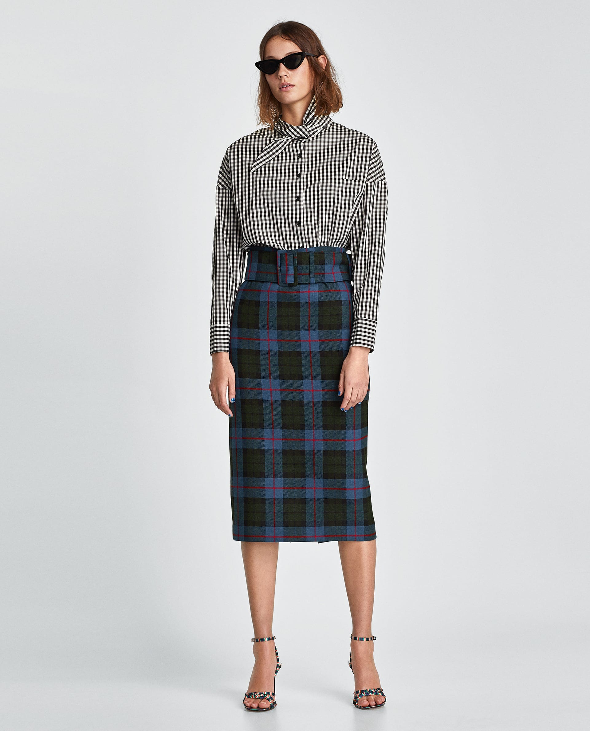 608331a1 Cute Trendy Pencil Skirts For Winter 2018, Zara Mango
