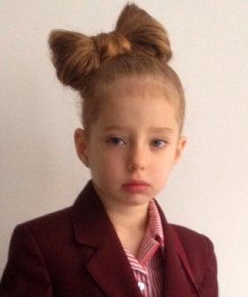 Hair Bow Ban Marcella Marino School Dress Code Photo Day