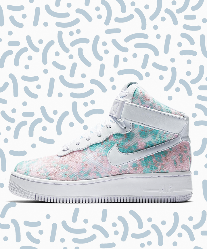 Nike Cinderella Sneakers Glass Slipper Style Iridescent