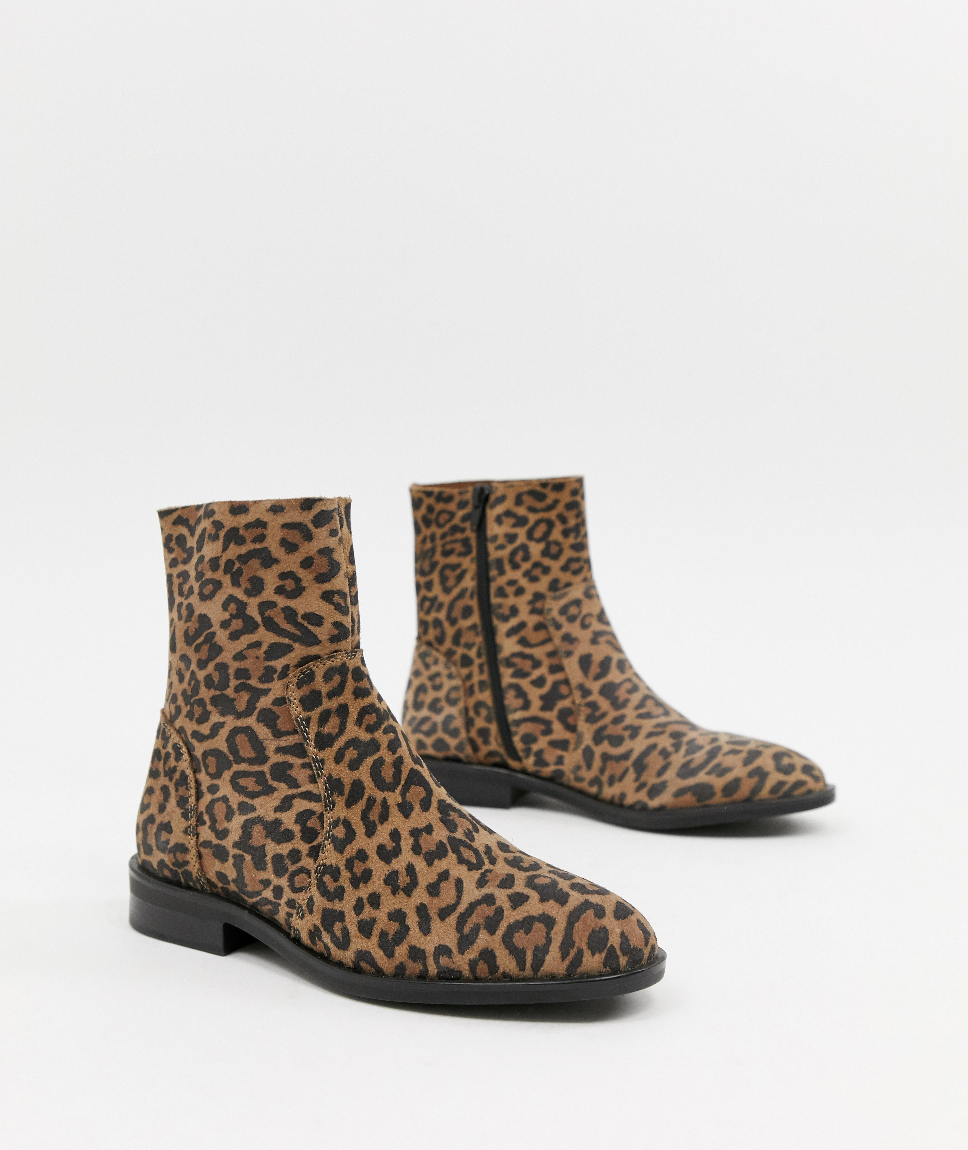 2ab2ecf9f409 Cute Leopard Print Boots & Booties For Winter 2019