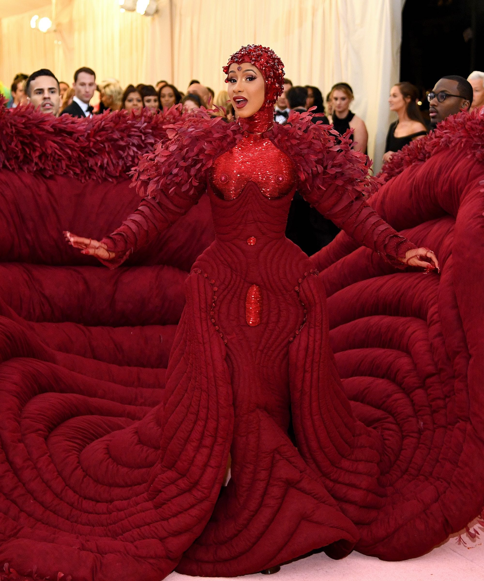 549975a60d Cardi B Dress Was Basically The Met Gala Red Carpet