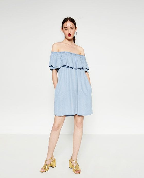 Blog The Off Zara Dress Funny Shoulder Trend Popular wikTXZOPu