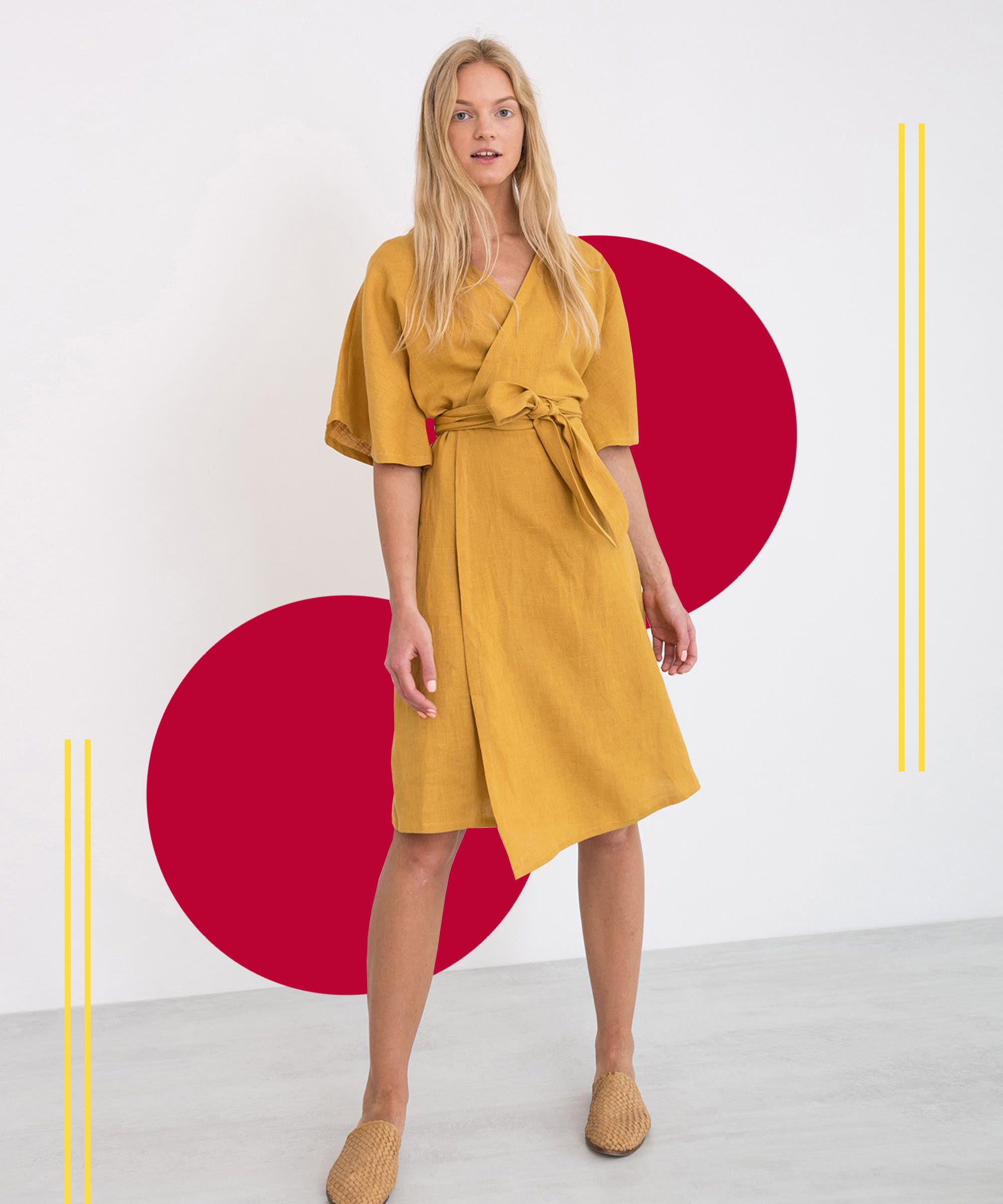 The Low-Key Spring Closet MVP Might Just Be The Wrap Dress