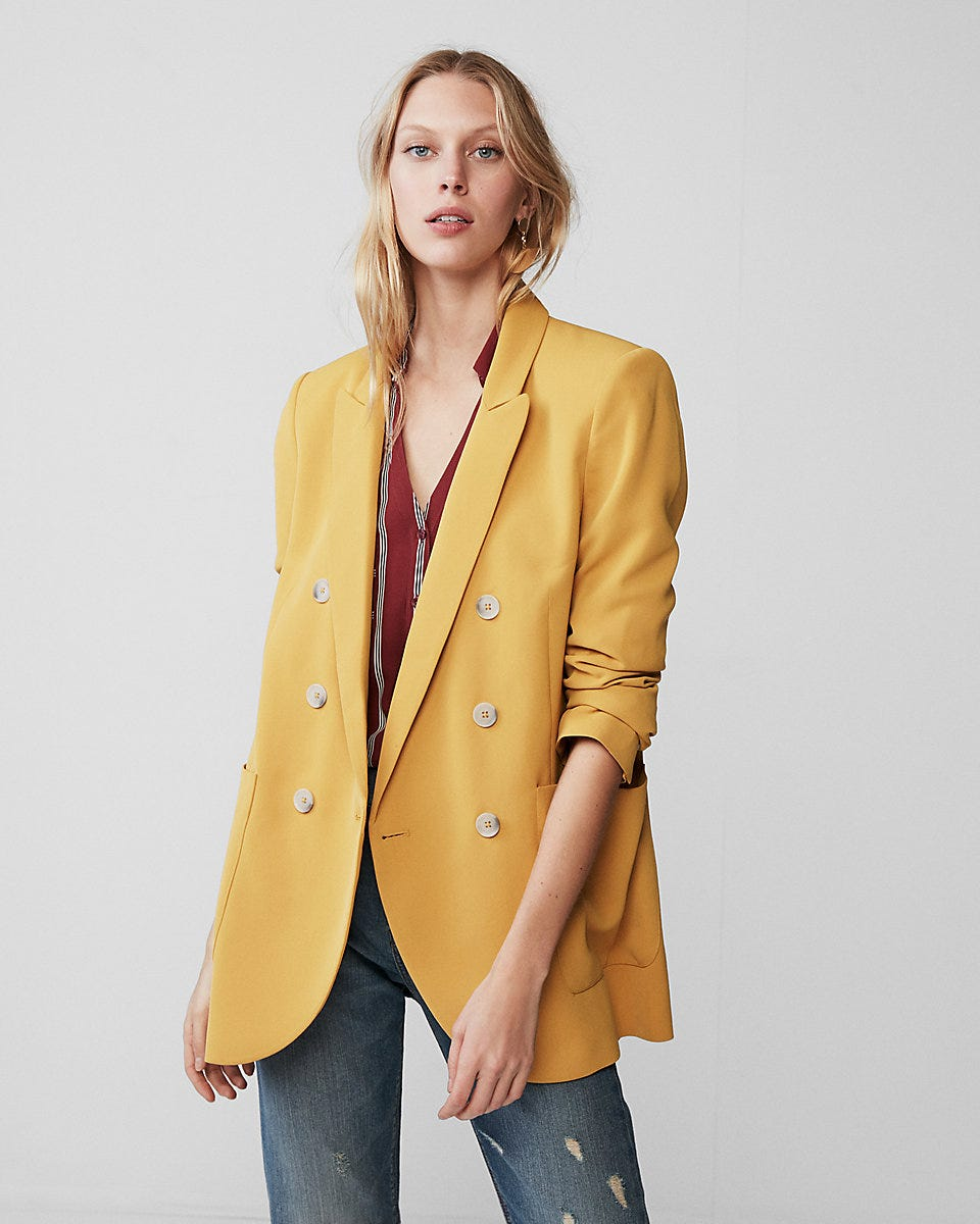 e58e03dd1d Double Breasted Blazers For Women Fall Trend