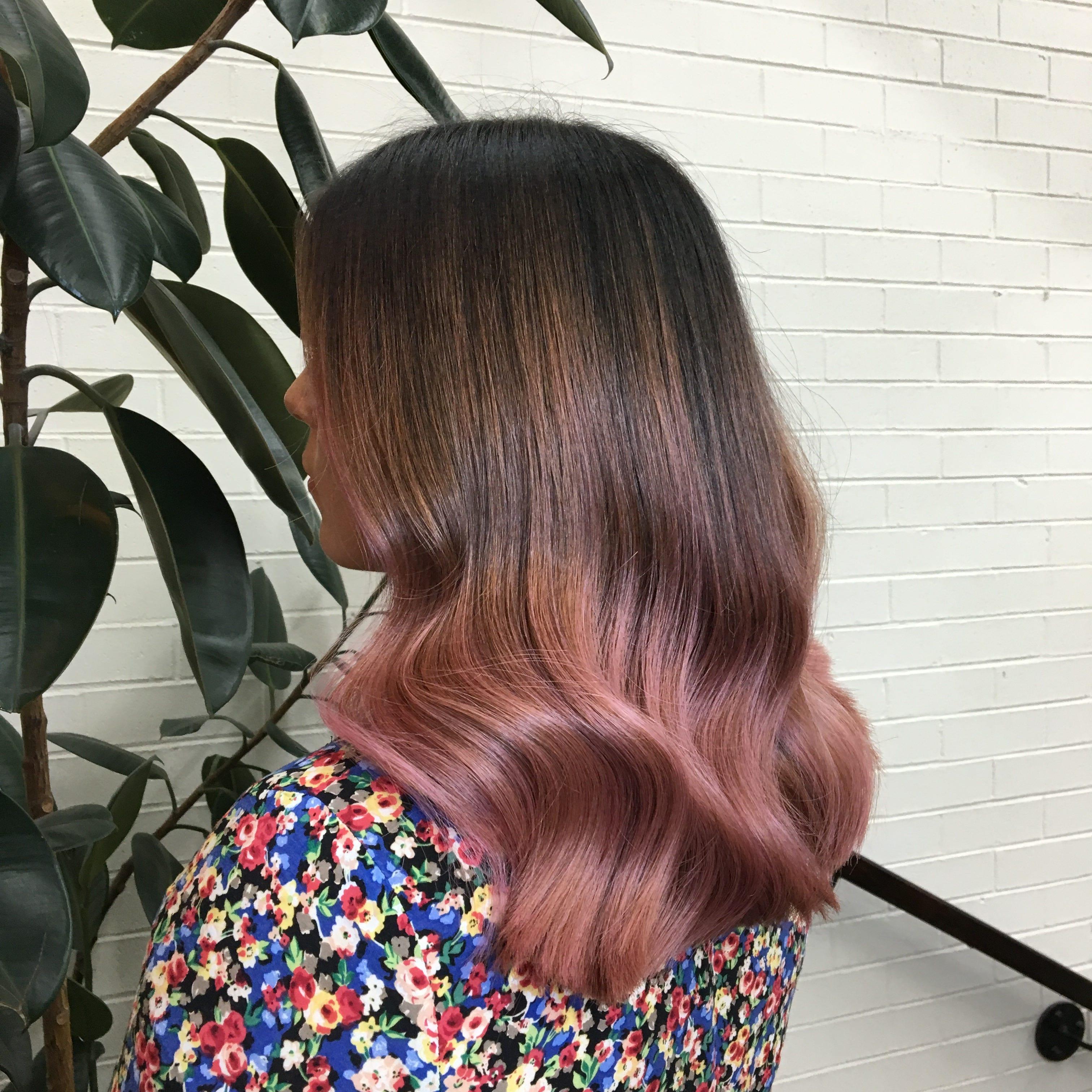 Rose Hair Color Pink Hair Dye Shades Photos