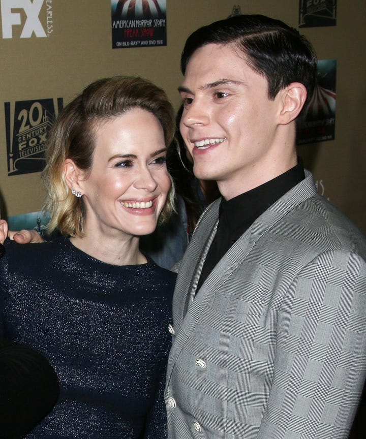 Sarah paulson and Evan peters