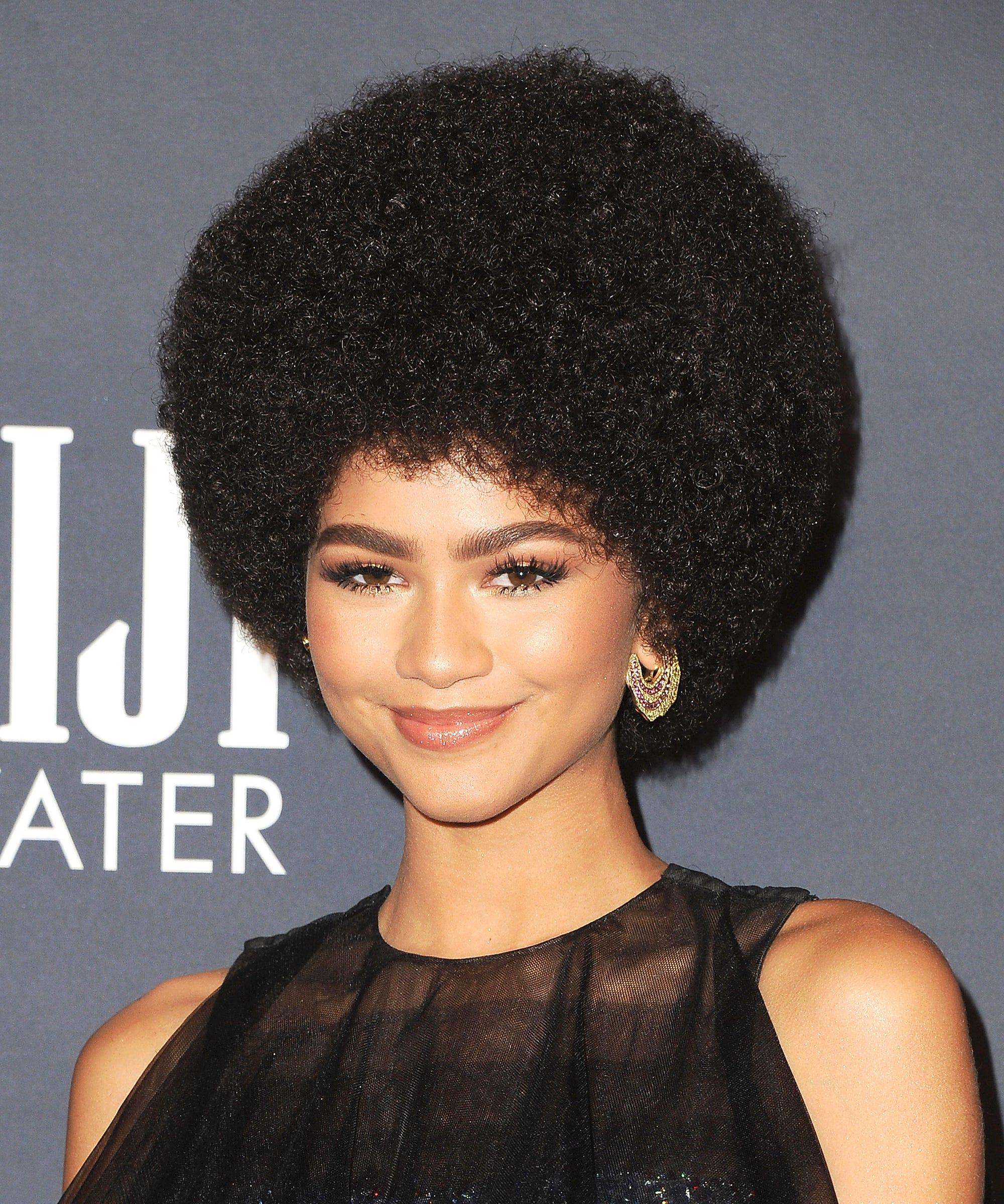 Zendaya Hair Afro Instagram Kim Kimble Instyle Awards