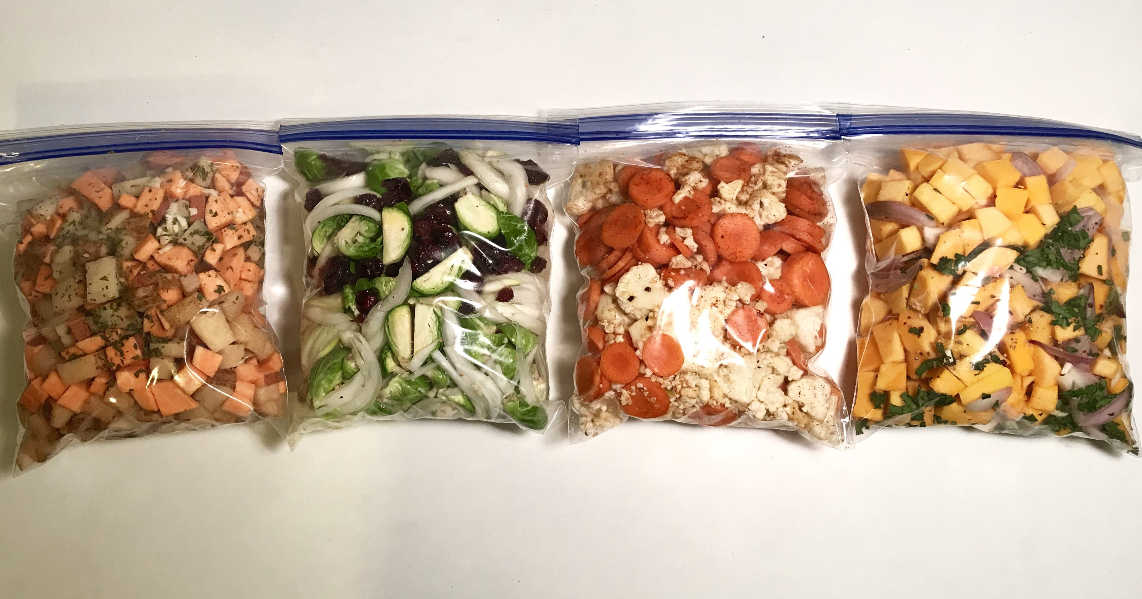Prep These 4 Easy Roasted Veggie Bags For The Fastest Fall Dinners