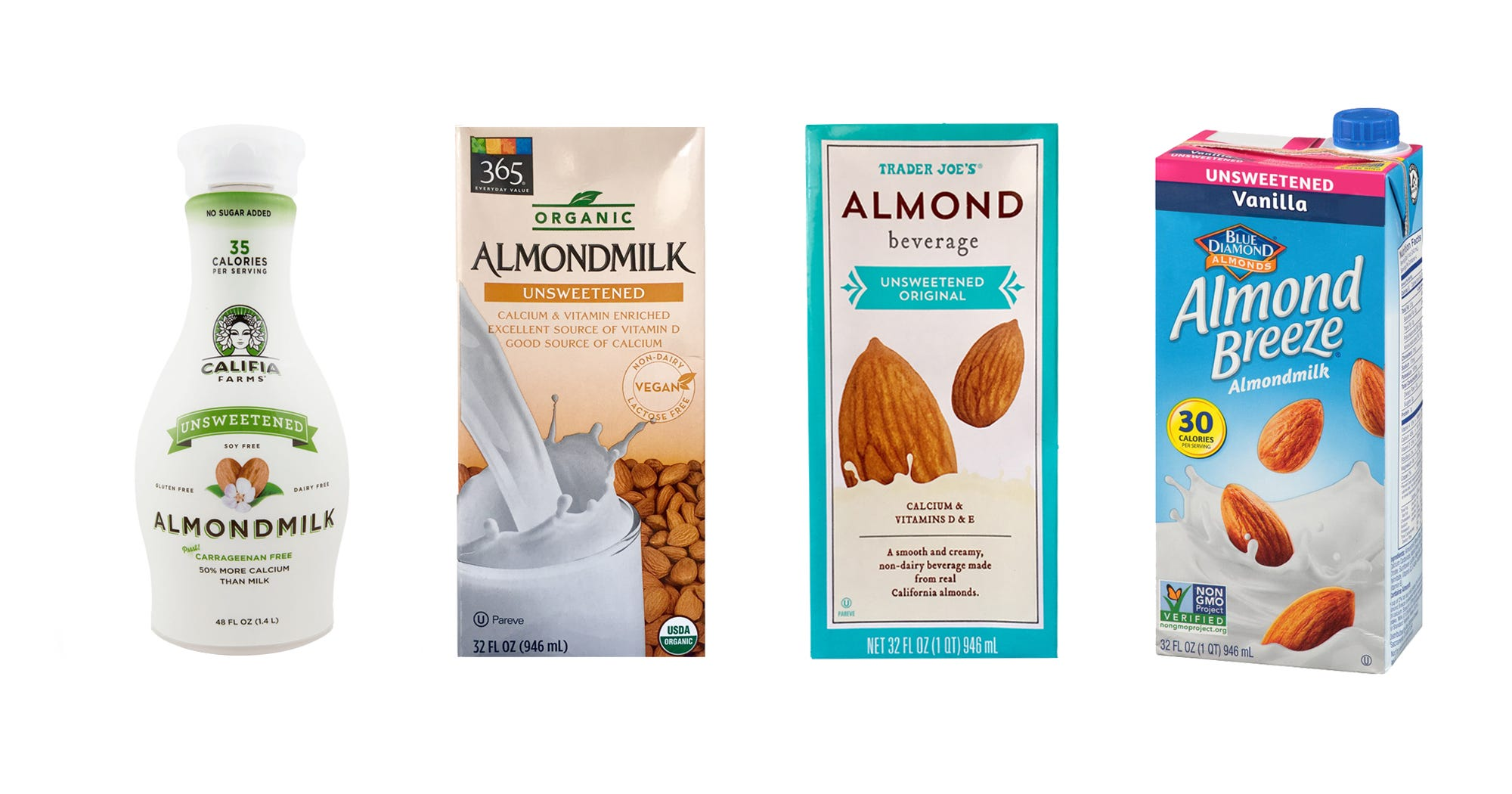 Best Almond Milk Non Dairy Milk Alternative Brands