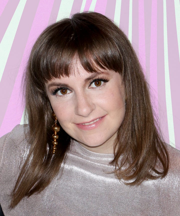 Lena Dunham New Blue Hair Instagram Photo Smurf Color