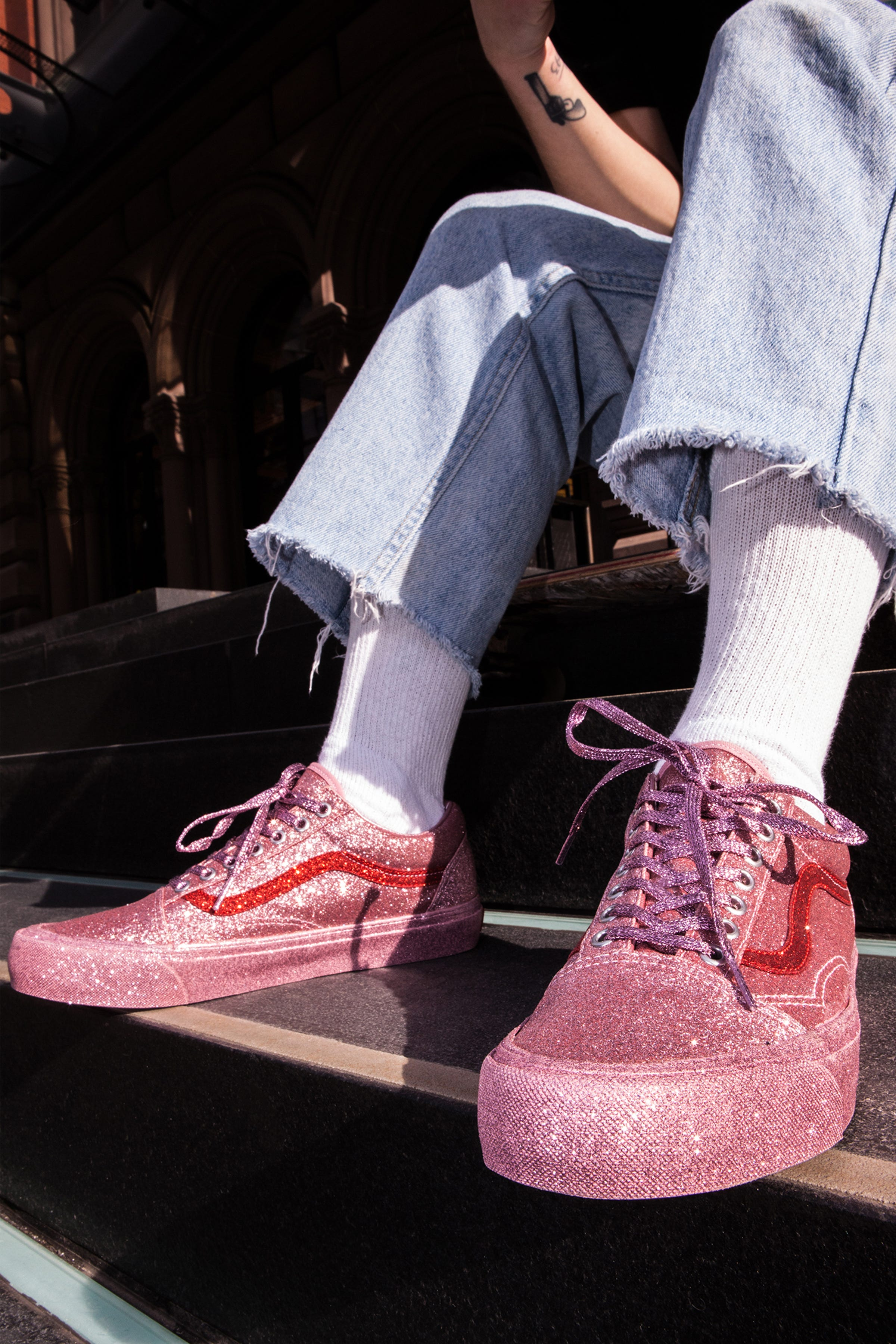1a1a74cdfa Vans New Glitter Old Skool Sneakers Opening Ceremony