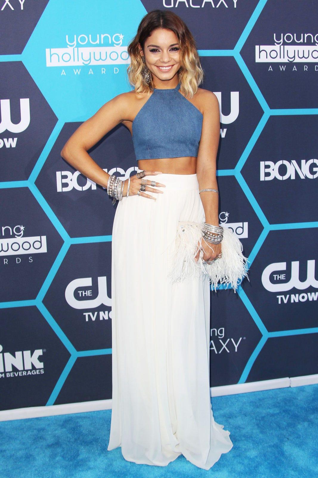 Vanessa Hudgens Young Hollywood Awards Crop Top Maxi
