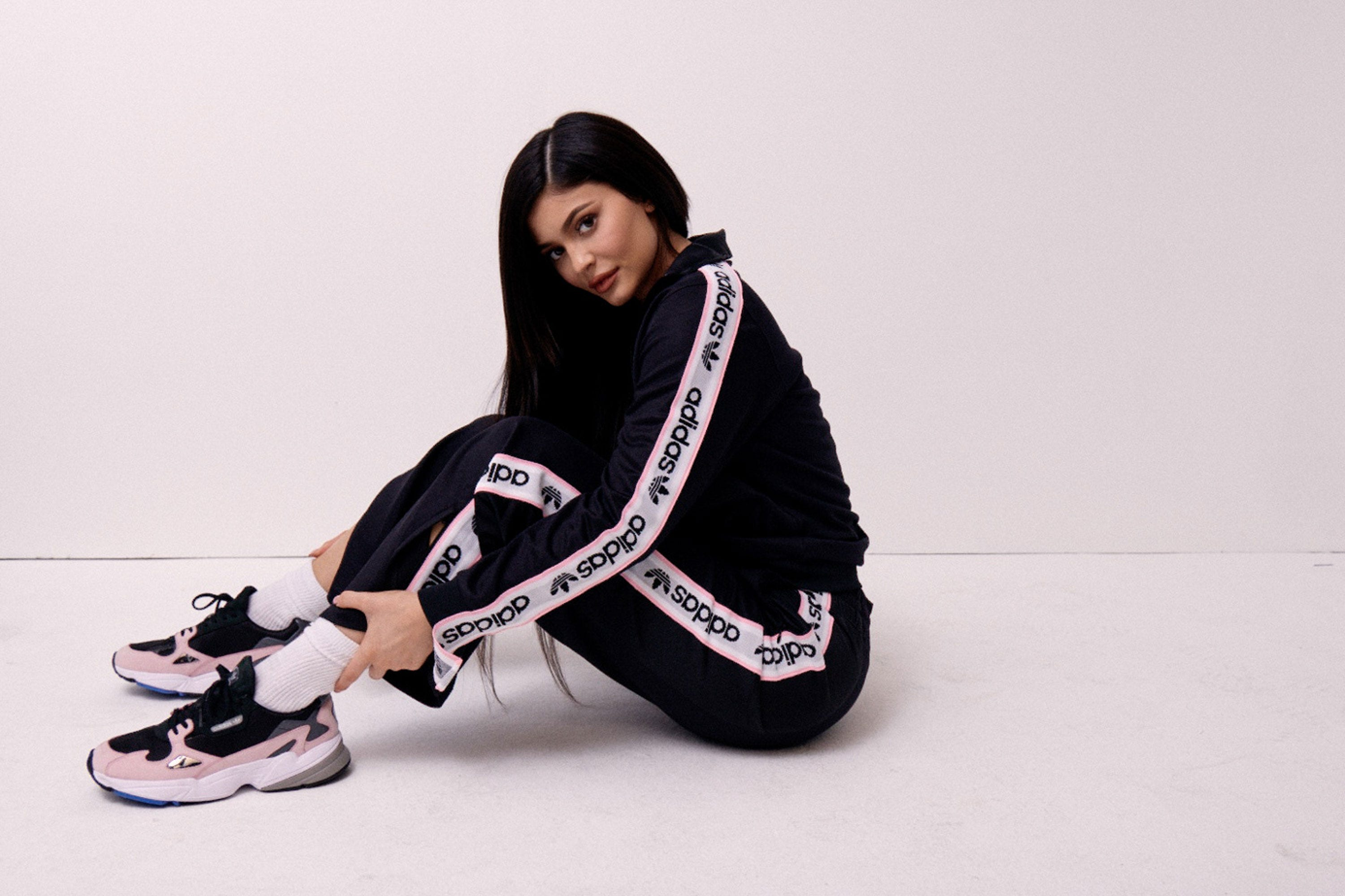 22eb875523c Kylie Jenner Is The New Face Of Adidas Falcon Trainers