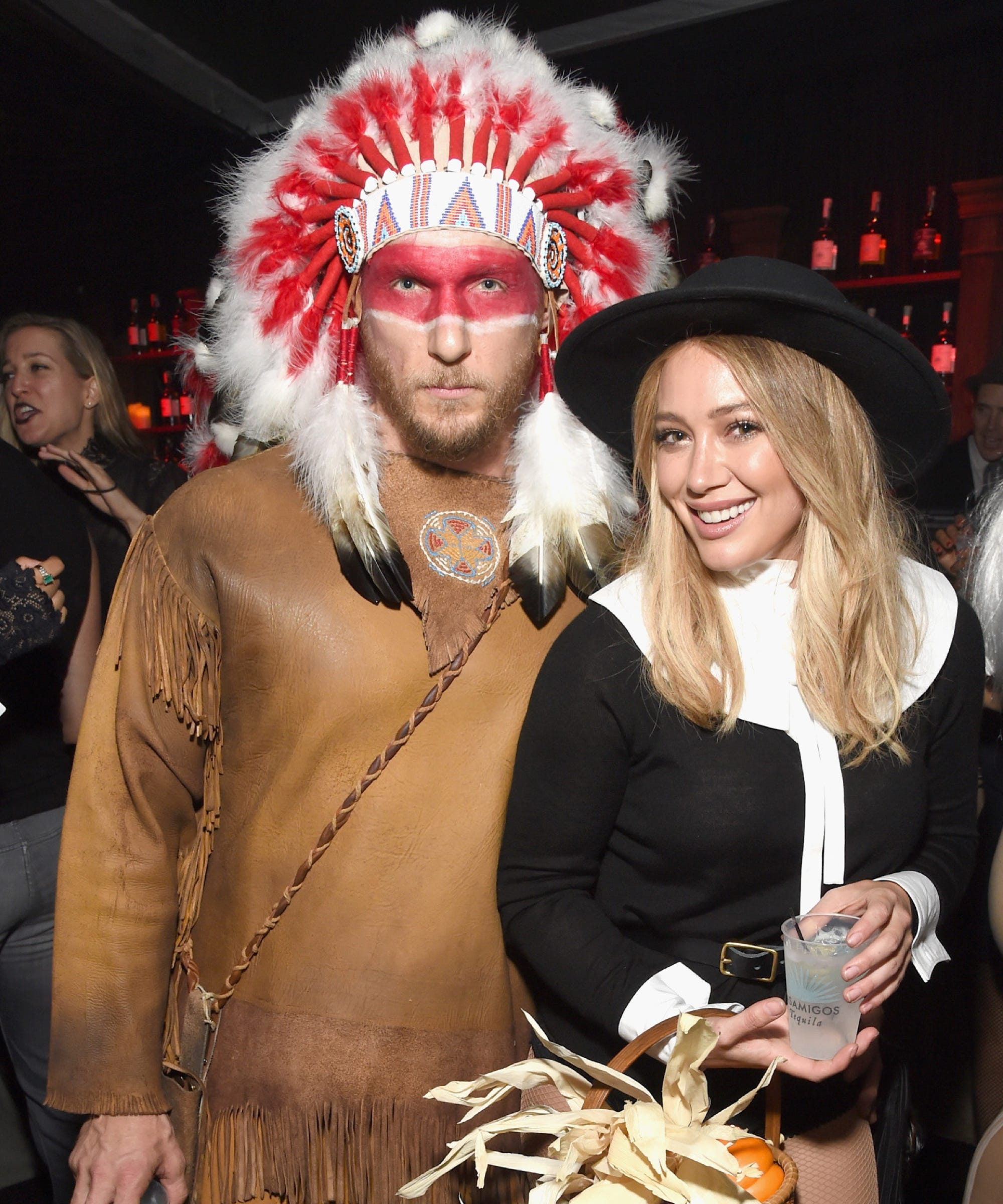 hilary duff racist halloween costume pilgrims indians