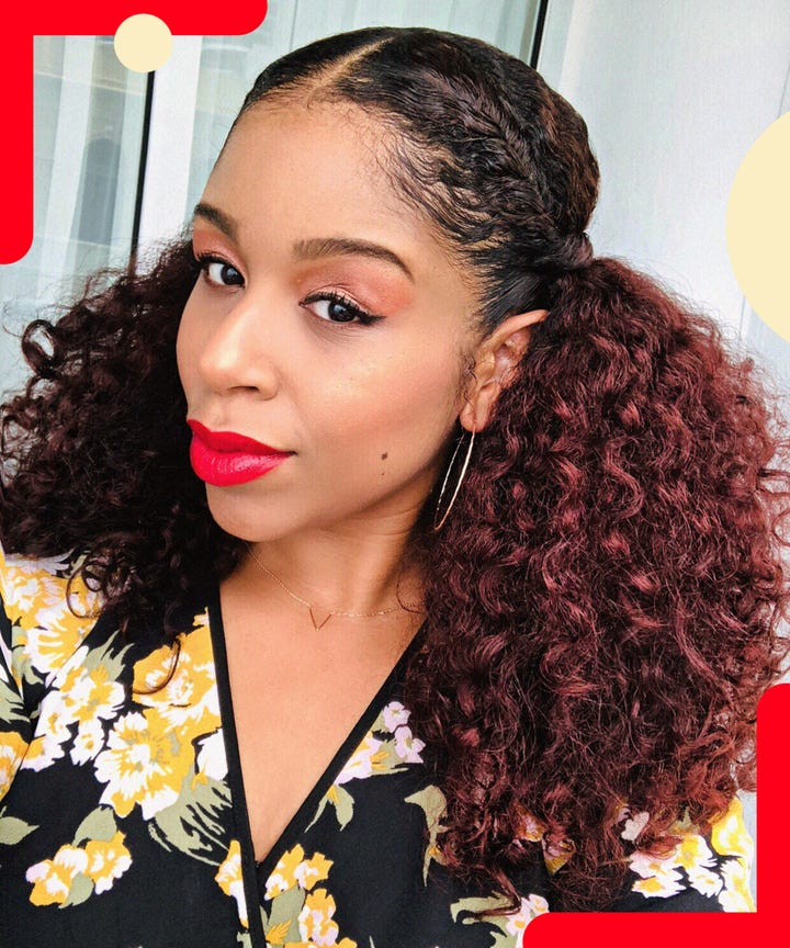 Ways To Wear Red Hair Color On Natural Curly Hair