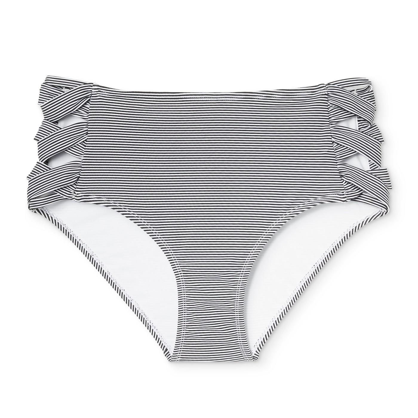 4fd95b1ed2bfe Xhilaration. Plus Size Stripe High Waist Bikini Bottom