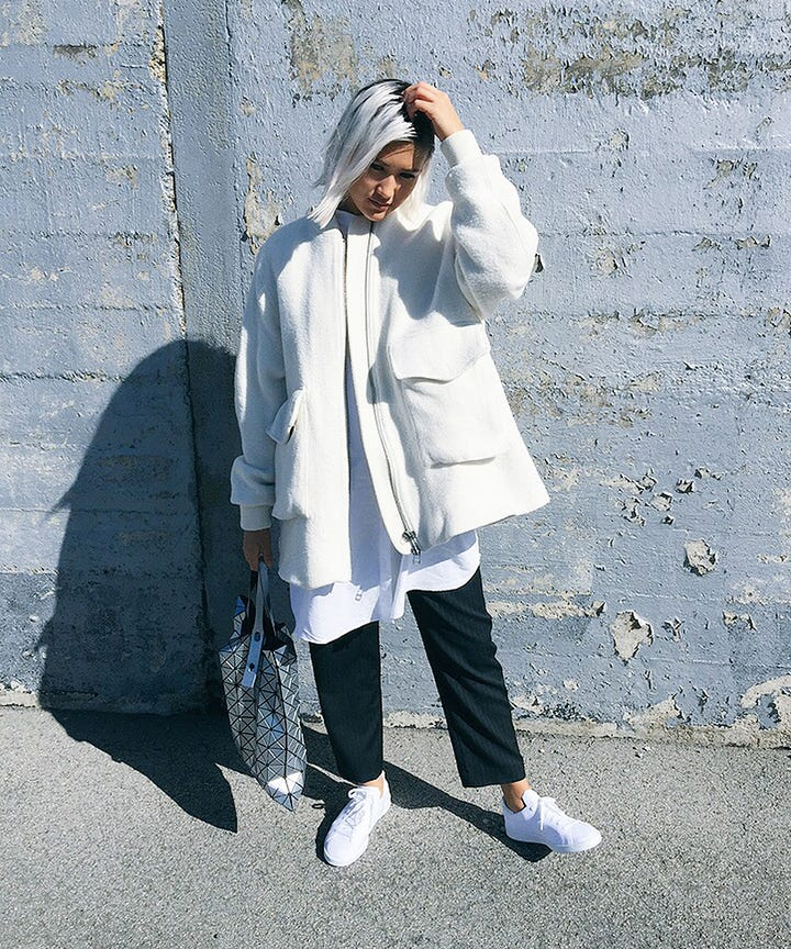 Weve Been Following 21 Year Old Fashion Student Erika Bowes On For The Last Year And Applauding Her Clean No Fuss Approach To Style