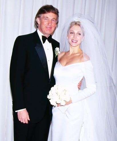 Marla maples wedding dress pictures