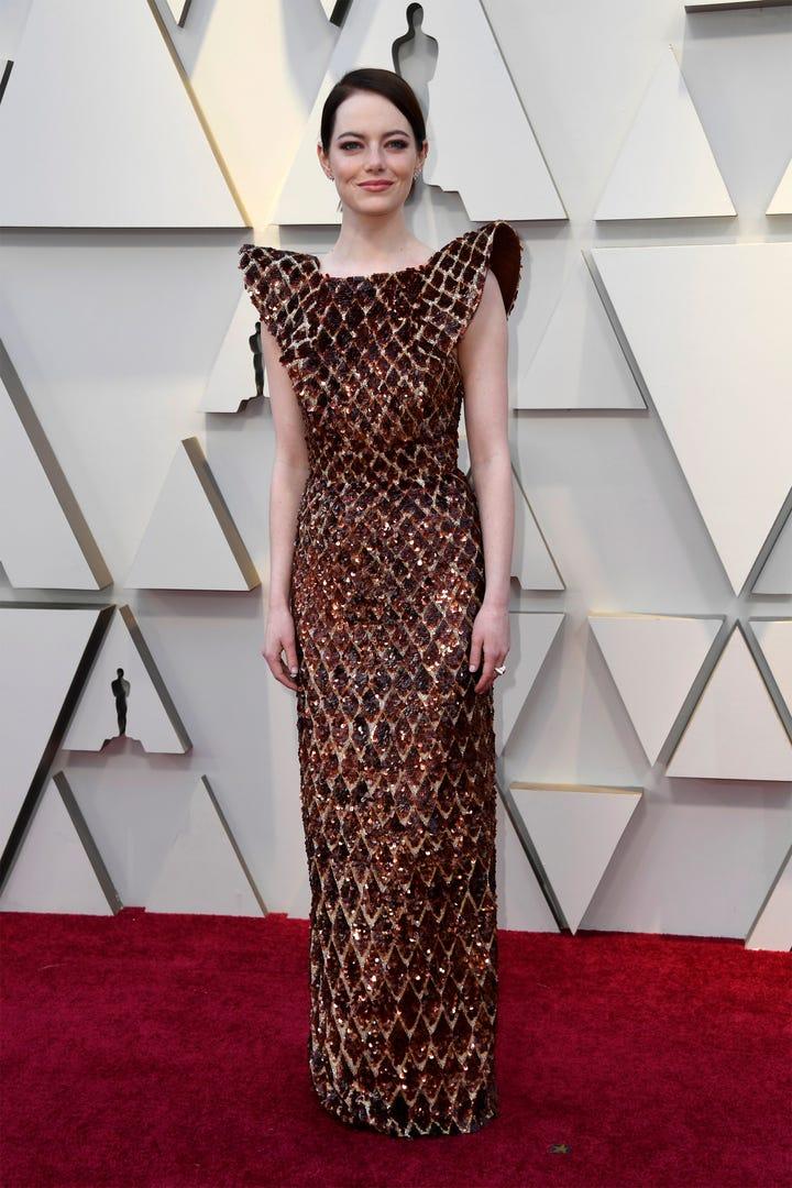 Resultado de imagen para emma stone dress oscar 2019