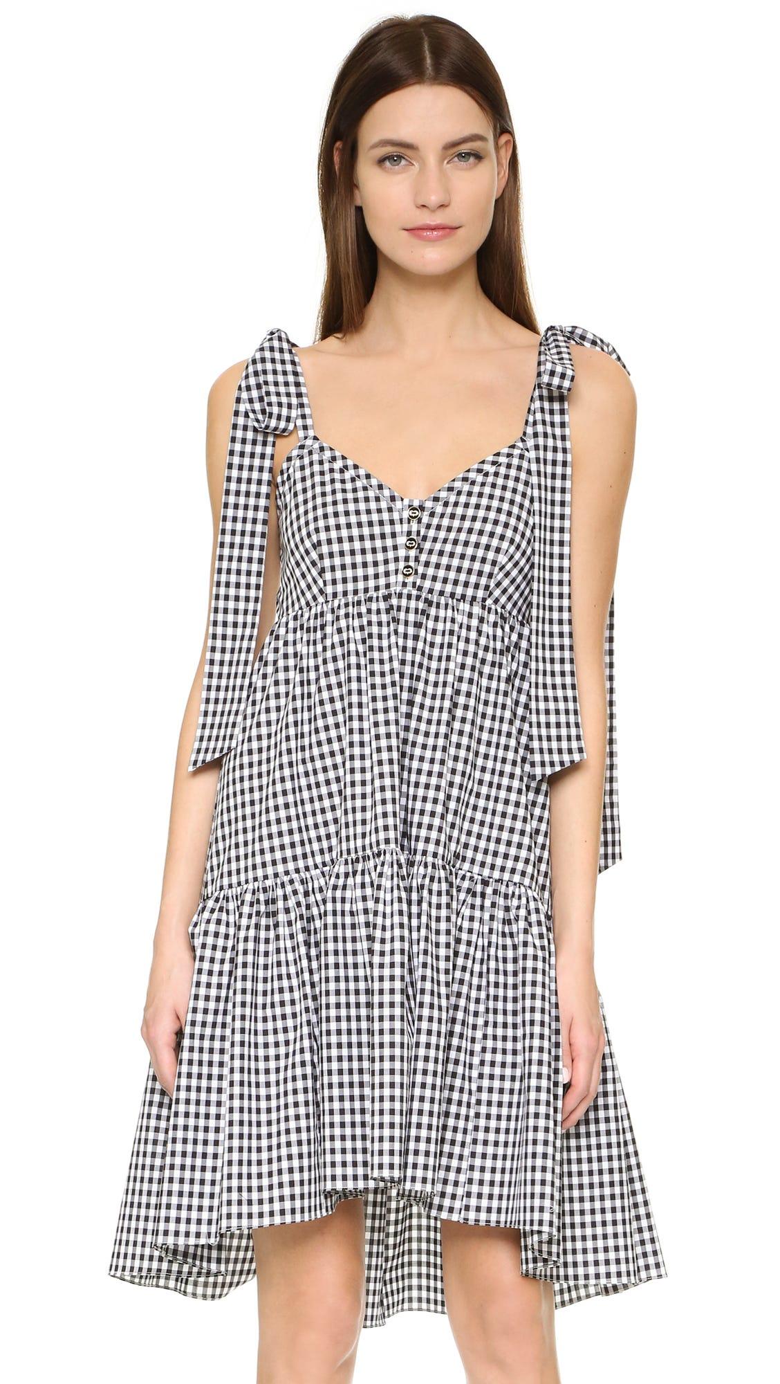 a1f74a76120ab4 Gingham Print Spring Clothing Shirt Dress Tops